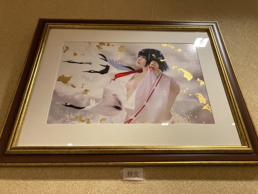 三宅漢方医院待合室の絵 Ato fujihara