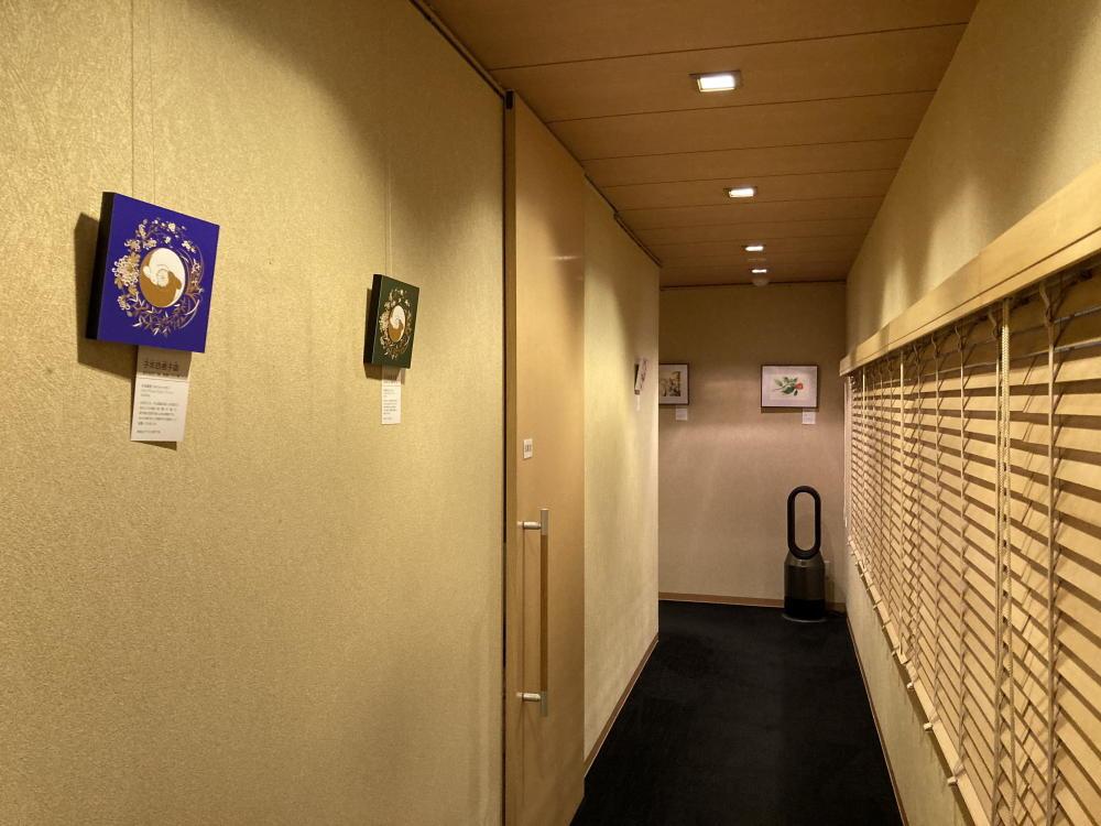三宅漢方医院廊下の絵