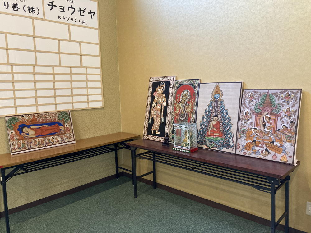 三宅漢方医院から寄贈した仏画