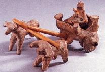 インダス文明の粘土製牛車